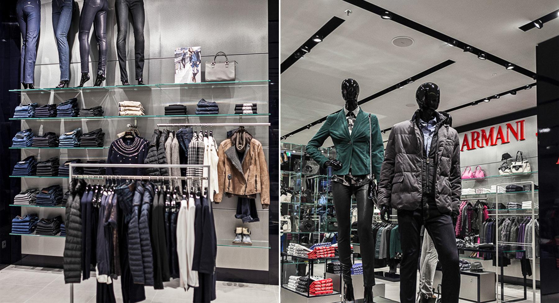 Referenzen Innenarchitektur SDW DESIGN Ladengestaltung Armani Jeans